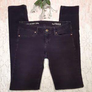 GAP corduroy 'Always Skinny' pants sz 27 or 4 Tall